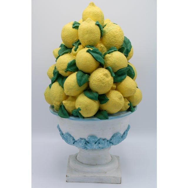 Tall Vintage French Lemon Topiary Basket / Centerpiece For Sale In Tulsa - Image 6 of 11