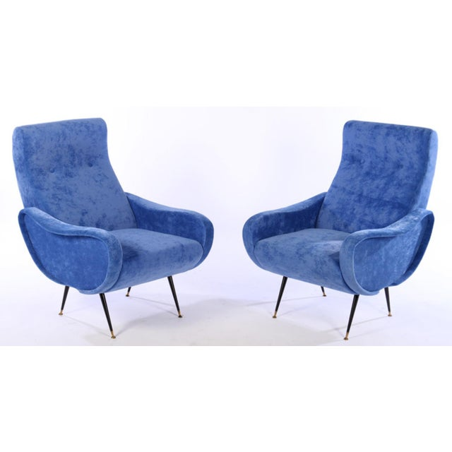 Marco Zanuso Style Lady Chairs - A Pair - Image 2 of 6