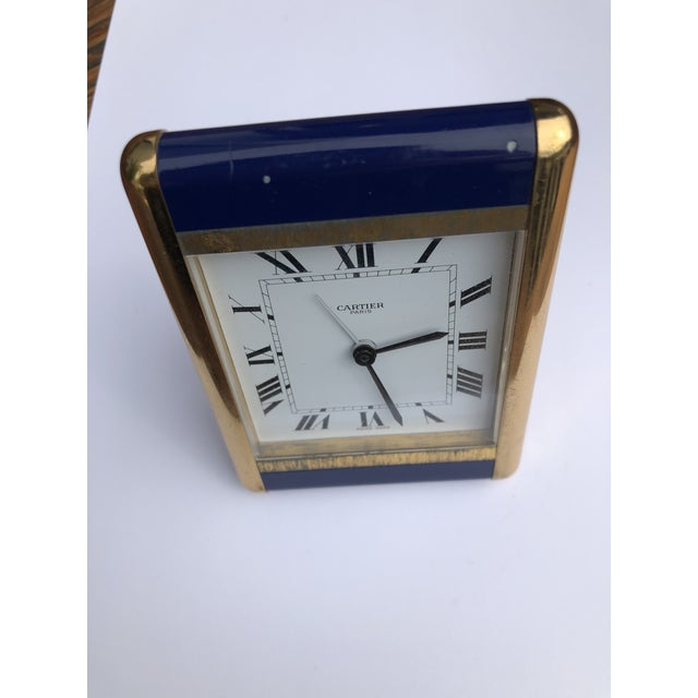 Metal Cartier Paris Travel Clock For Sale - Image 7 of 13