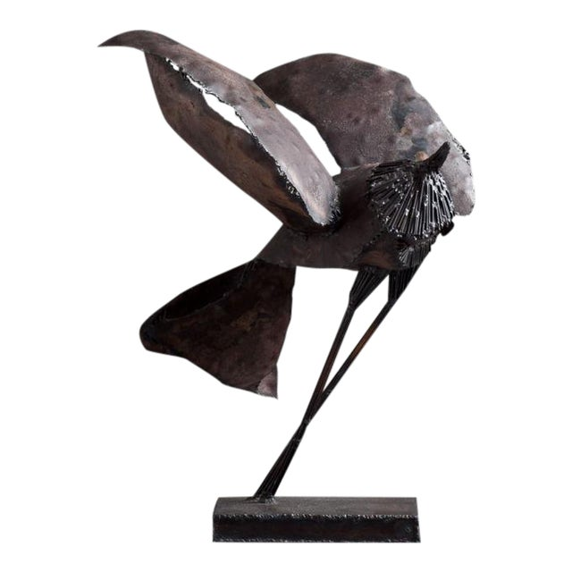 A Brutalist Abstract Bird Table Sculpture attributed to Curtis Jere Late 1960s - Image 1 of 5