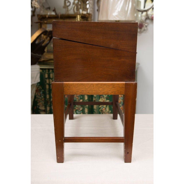 Traditional 19th Century Mahogany Lap Desk on Later Stand For Sale - Image 3 of 9
