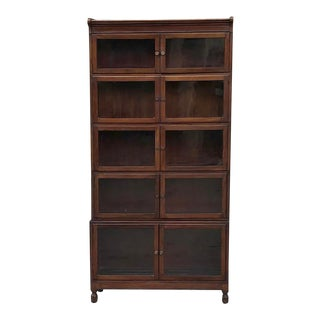Antique English Mahogany Bookcase ~ File Cabinet For Sale