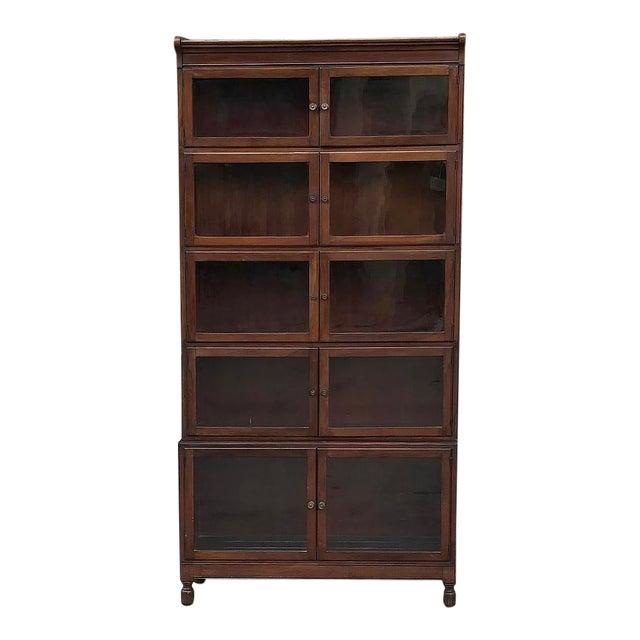 Antique English Mahogany Bookcase ~ File Cabinet For Sale
