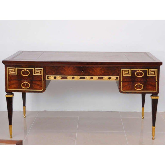 Animal Skin Fine French Ormolu-Mounted Desk, by Forest For Sale - Image 7 of 11
