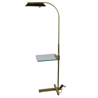 Brass Pharmacy Floor Lamp by Casella For Sale
