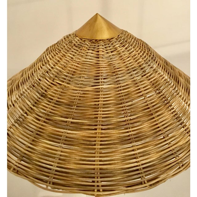 Boho Chic Celerie Kemble for Arteriors Boho Chic Terrace Rattan and Wicker Floor Lamp For Sale - Image 3 of 6