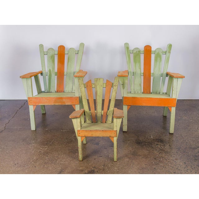 Family Set of Adirondack Chairs - Image 3 of 11