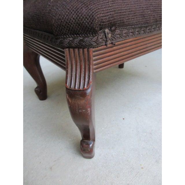 Vintage Mahogany Needlepoint Footstool For Sale - Image 6 of 13