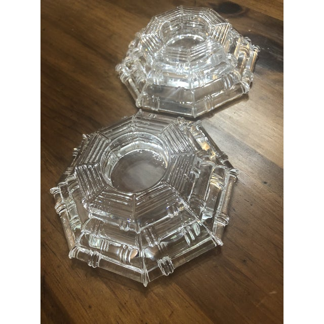 These vintage tea light holders are perfect for a table setting or styling your coffee table. The pyramid shape and faux...