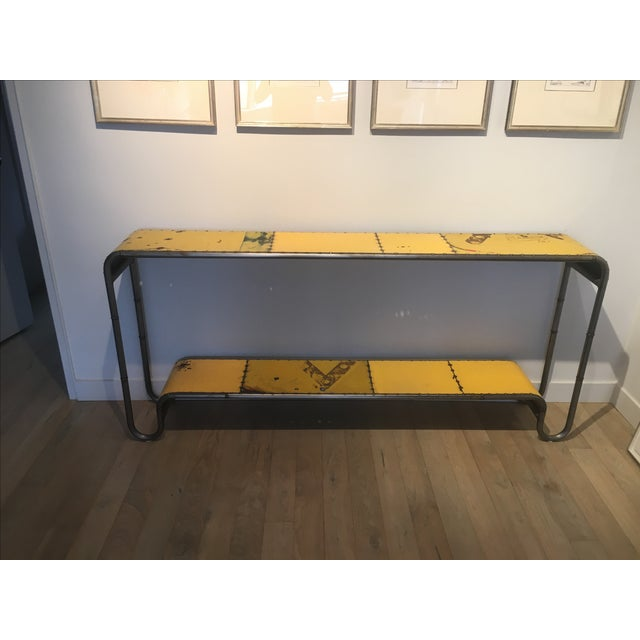 Industrial Salvaged Steel Console - Image 5 of 9