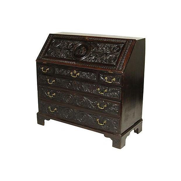 19th Century English Carved Slant-Front Desk - Image 2 of 7