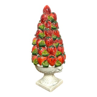 Vintage Italy Majolica Topiary Centerpiece For Sale