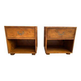 Vintage Henredon Artefacts Campaign Nightstands - a Pair For Sale
