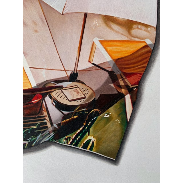 """""""Lost Summer"""" Contemporary Trompe L'oeil Photorealist Limited Edition Giclee Print by Jack Verhaeg For Sale - Image 4 of 5"""