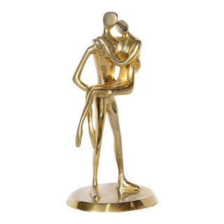 "Almanzor ""Noche De Bodas"" Gilt Bronze Figural Sculpture"