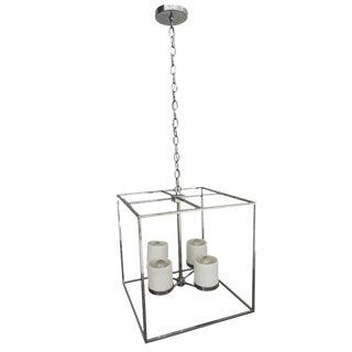 Modern Deco Minimilist Square Pendant Chandelier For Sale