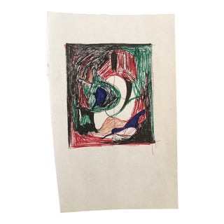 1980s Inga-Britta Mills Abstract Drawing For Sale