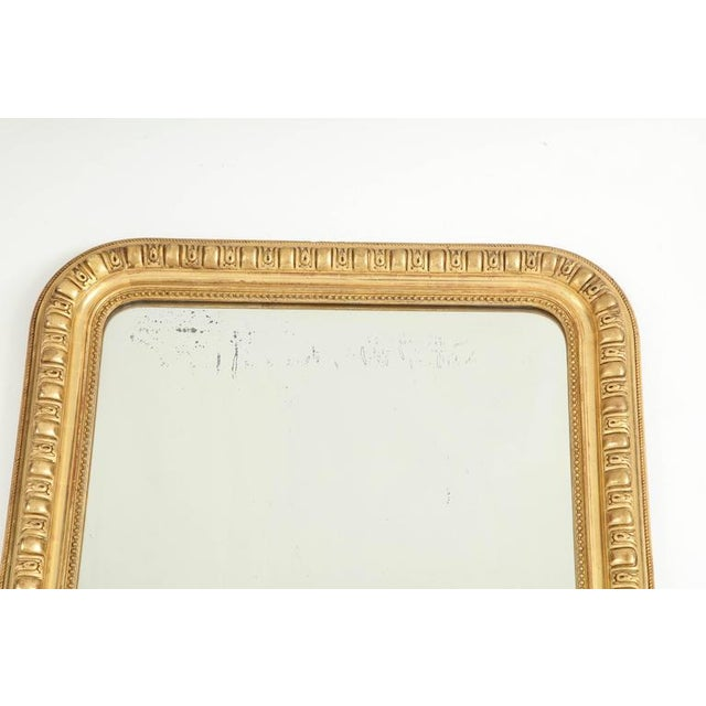 Mid-Century Modern Giltwood Louis Philippe Mirror For Sale - Image 3 of 8