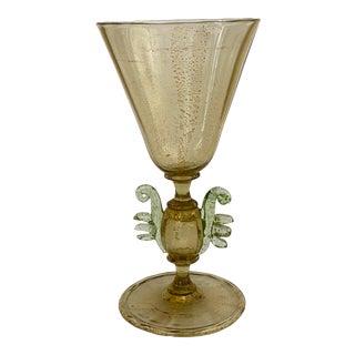 Old Venetian Wine Glass Circa 1900. For Sale