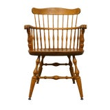 Image of Late 20th Century Vintage Nichols & Stone Solid Maple Spindle Back Dining Arm Chair For Sale