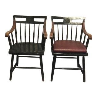 Early 20th Century Nichols & Stone Windsor Chairs- A Pair For Sale