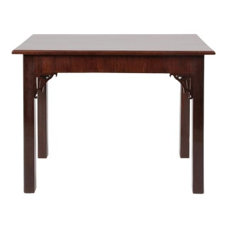 Antique Chippendale Mahogany Side Table For Sale