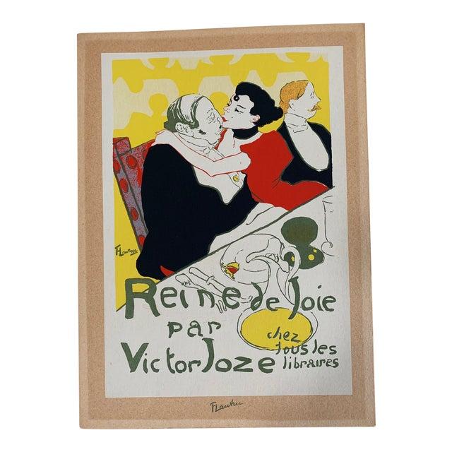Vintage 1940's Toulouse Lautrec Original Silkscreen Print Reine De Joie 1892 For Sale