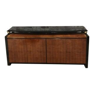 1980s Modern Henredon Koa Wood Buffet Sideboard For Sale