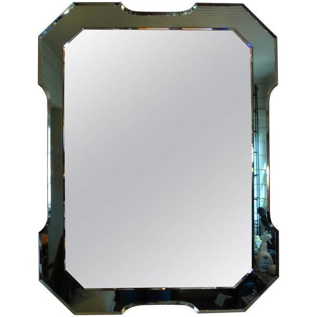 Italian Fontana Arte Style Green Mirror For Sale In Houston - Image 6 of 6
