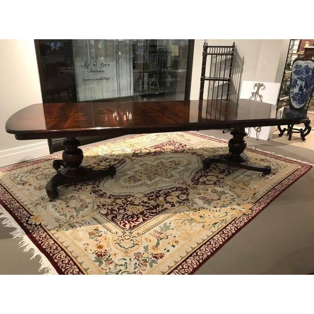 Baker Furniture Company Vintage Century Furniture Dining Table For Sale - Image 4 of 4
