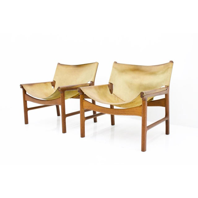 Rare Set of Three Lounge Chairs by Illum Wikkelsø for Mikael Laursen, 1972 For Sale - Image 6 of 9