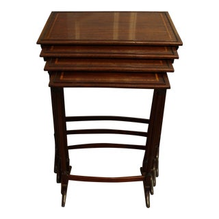 19th Century Traditional Nesting Tables - Set of 4 For Sale