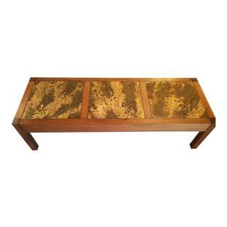 Mid-Century Modern Wood & Inlay Coffee Table
