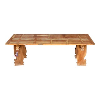 Handcrafted Bali Teak Table For Sale