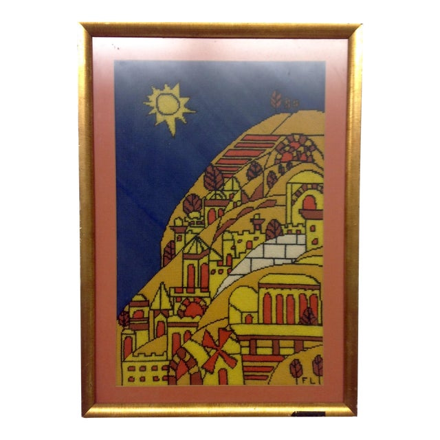 Mid-Century Tapestry After Fernand Ledger For Sale