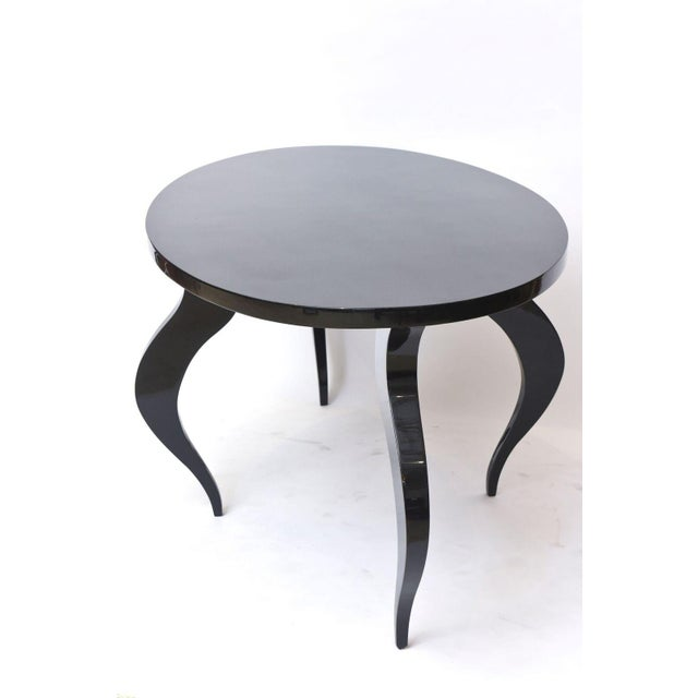 Black Italian Modern Black Lacquer Center/Dining Table For Sale - Image 8 of 9