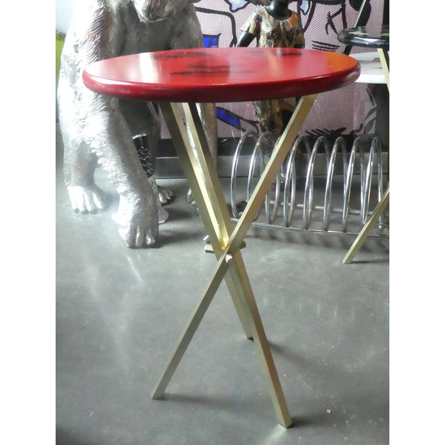 1970s Vintage Fornasetti Red Julia Side Table For Sale - Image 10 of 13