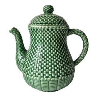 Bordallo Pinheiro Majolica Coffee Pot For Sale