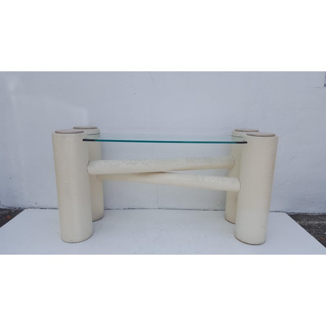 Vintage Sculptural -X- Form Base Console Table For Sale - Image 4 of 9