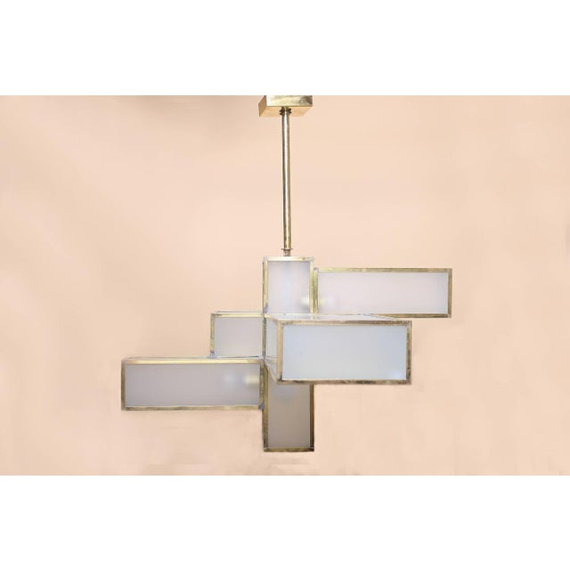 Geometric Chandelier Attributed to Jean Perzel For Sale - Image 7 of 10