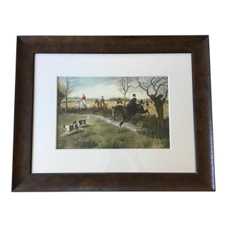 "English ""The Lady Leads"" Framed Hunting Print"
