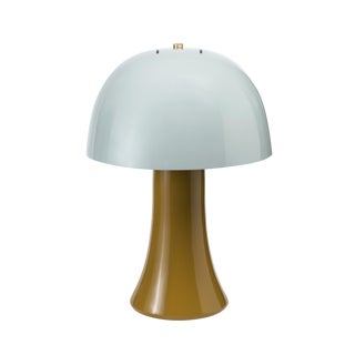 Jeffrey Bilhuber Collection Crown Lamp in Bright Teal / Lichen Green For Sale