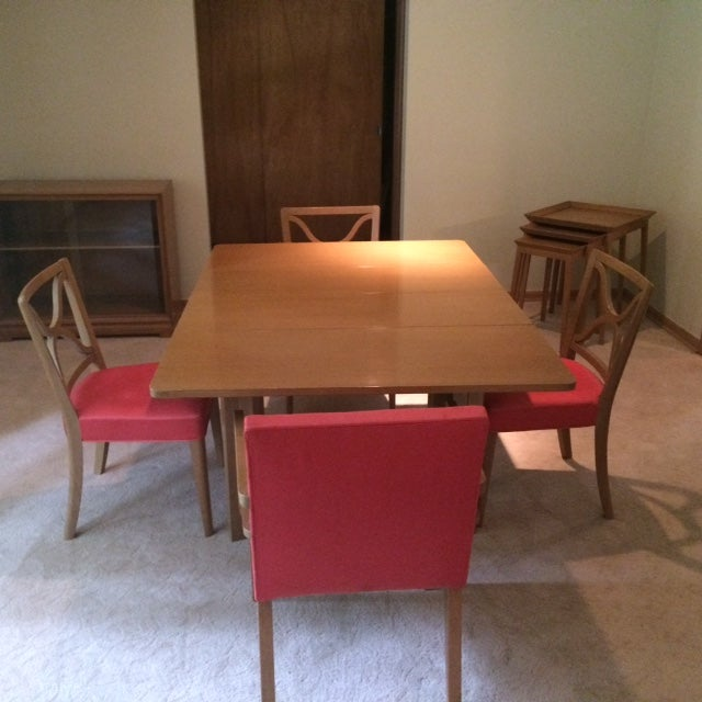 This Mid Century Dining set was designed by T.H. Robsjohn Gibbings for Widdicomb Furniture Company of Grand Rapids,...