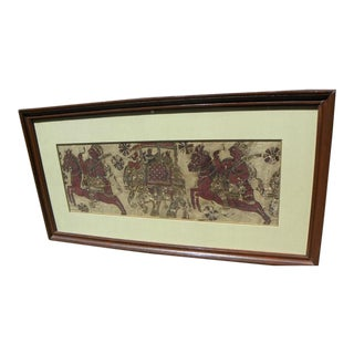 18th Century Framed Kalamkari Textile, Moghul Empire For Sale
