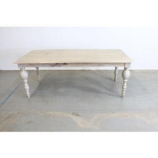 French Country Rustic Natural Gray Farm Dining Table Preview