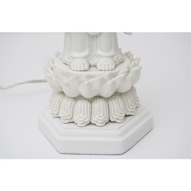 Blanc De Chine Quan Yin Table Lamp For Sale - Image 4 of 10