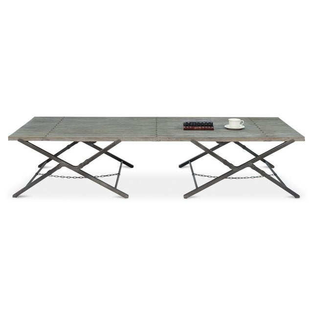 Sarreid Ltd Campaign Low Folding Table - Image 4 of 5