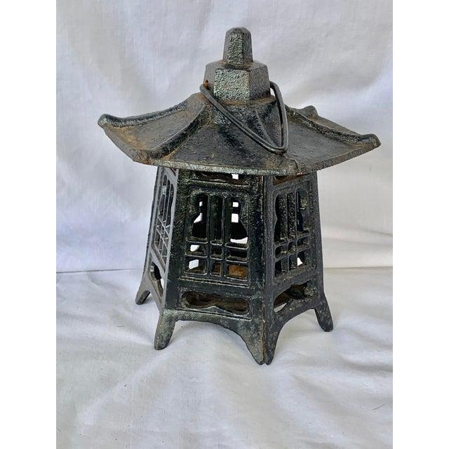 Vintage Cast Iron Pagoda Lantern For Sale - Image 9 of 9