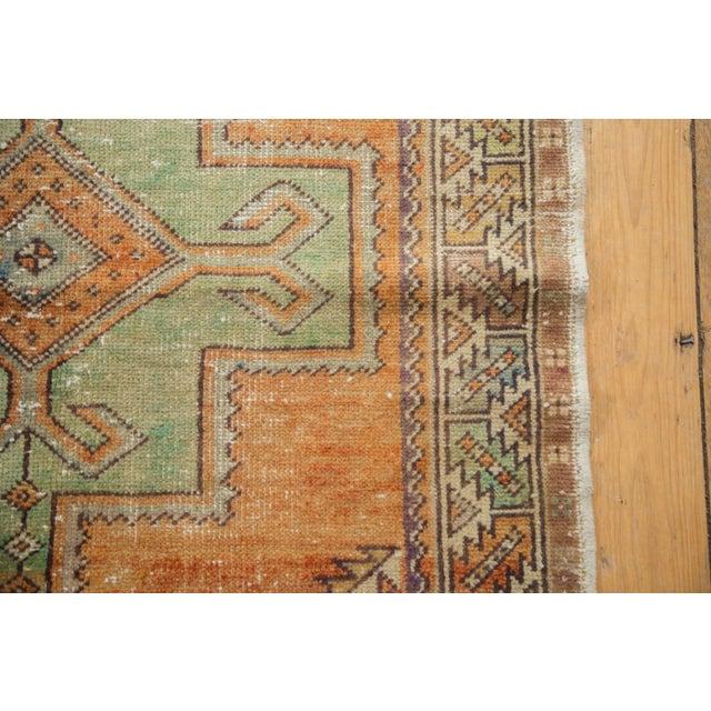 "Boho Chic Vintage Distressed Oushak Rug - 3'11"" X 8'3"" For Sale - Image 3 of 11"