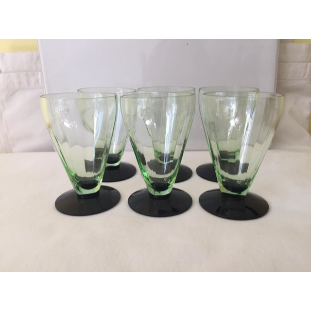 Emerald Green Cocktail Glasses - Set of 6 - Image 2 of 5